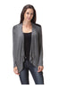 Draped Open Front Cardigan W/ Faux Leather Trim - BodiLove | 30% Off First Order  - 4