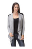 Draped Open Front Cardigan W/ Faux Leather Trim - BodiLove | 30% Off First Order  - 7