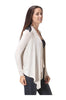 Draped Open Front Cardigan W/ Faux Leather Trim - BodiLove | 30% Off First Order  - 10