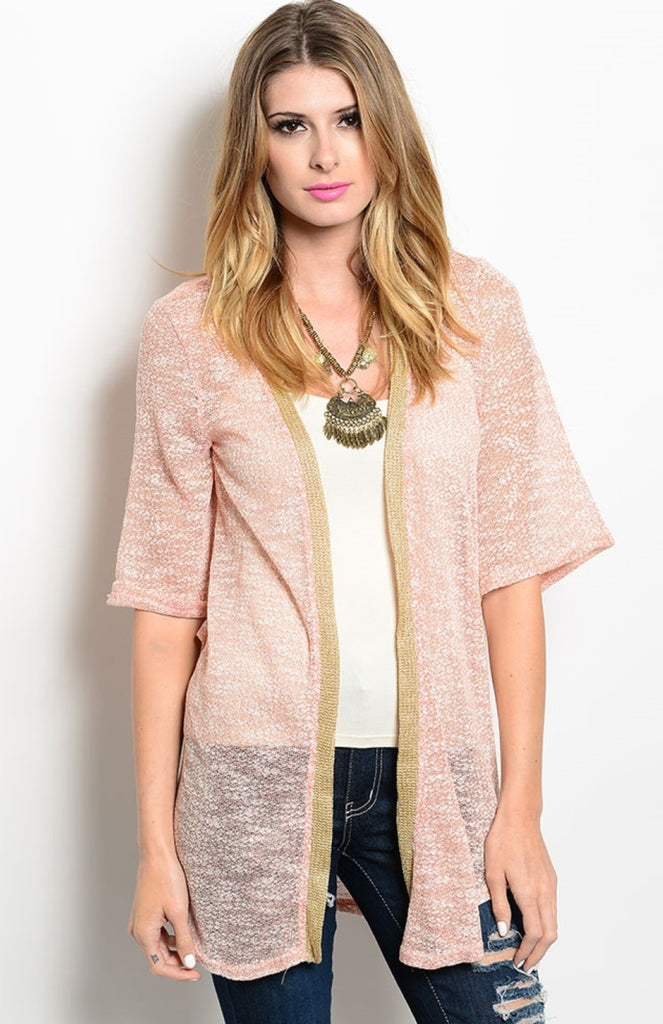 Draped Open Front Sheer Knit Cardigan - BodiLove | 30% Off First Order  - 5