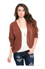 3/4 Sleeve Open Front Cocoon Knit Cardigan - BodiLove | 30% Off First Order  - 3