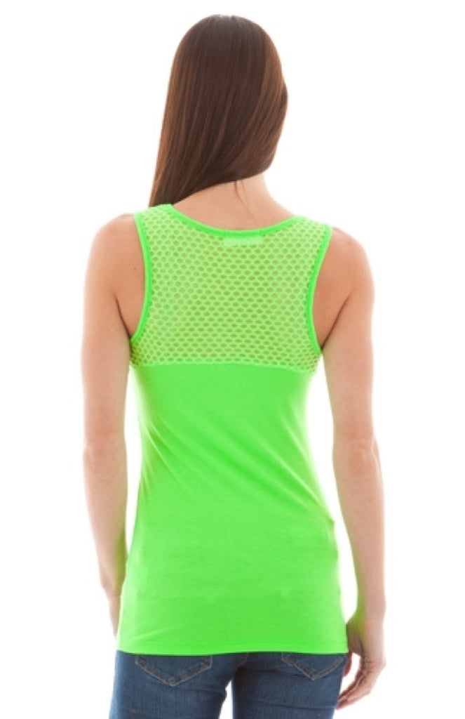 Mesh Yoke Athletic Inspired Tank - BodiLove | 30% Off First Order  - 1