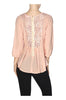 3/4 Sleeve Surplice Chiffon Peplum Blouse - BodiLove | 30% Off First Order  - 13