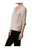3/4 Sleeve Draped Surplice Chiffon Blouse - BodiLove | 30% Off First Order  - 7
