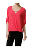 3/4 Sleeve Draped Surplice Chiffon Blouse - BodiLove | 30% Off First Order  - 11
