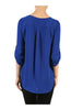 3/4 Sleeve Draped Surplice Chiffon Blouse - BodiLove | 30% Off First Order  - 5