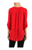 3/4 Sleeve Draped Surplice Chiffon Blouse - BodiLove | 30% Off First Order  - 19