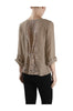 3/4 Sleeve Pin Tuck Blouse W/ Lace Back Panel - BodiLove | 30% Off First Order  - 7