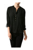 3/4 Sleeve Chiffon V-Neck Blouse - BodiLove | 30% Off First Order  - 1