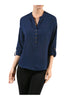 3/4 Sleeve Chiffon V-Neck Blouse - BodiLove | 30% Off First Order  - 5