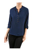 3/4 Sleeve Chiffon V-Neck Blouse - BodiLove | 30% Off First Order  - 4