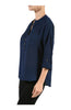 3/4 Sleeve Chiffon V-Neck Blouse - BodiLove | 30% Off First Order  - 7