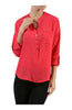 3/4 Sleeve Chiffon V-Neck Blouse - BodiLove | 30% Off First Order  - 8