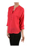 3/4 Sleeve Chiffon V-Neck Blouse - BodiLove | 30% Off First Order  - 11