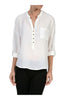 3/4 Sleeve Chiffon V-Neck Blouse - BodiLove | 30% Off First Order  - 12