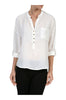 3/4 Sleeve Chiffon V-Neck Blouse - BodiLove | 30% Off First Order  - 13