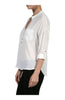 3/4 Sleeve Chiffon V-Neck Blouse - BodiLove | 30% Off First Order  - 15