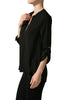 3/4 Sleeve Henley V-Neck High Low Blouse - BodiLove | 30% Off First Order  - 2