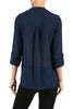 3/4 Sleeve Henley V-Neck High Low Blouse - BodiLove | 30% Off First Order  - 3