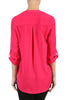 3/4 Sleeve Henley V-Neck High Low Blouse - BodiLove | 30% Off First Order  - 8