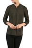 3/4 Sleeve Henley V-Neck High Low Blouse - BodiLove | 30% Off First Order  - 6