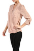 3/4 Sleeve, Surplice Blouse | 30% Off First Order | Beige