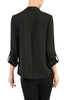 3/4 Sleeve, Surplice Blouse | 30% Off First Order | Black