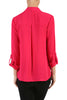 3/4 Sleeve, Surplice Blouse | 30% Off First Order | Fuchsia