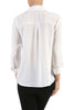 3/4 Sleeve, Surplice Blouse | 30% Off First Order | White