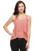 Layered Chiffon Hi Low Tank W/ Lace Back - BodiLove | 30% Off First Order  - 6