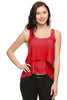 Layered Chiffon Hi Low Tank W/ Lace Back - BodiLove | 30% Off First Order  - 10