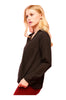 Dressy Long Sleeve Draped Surplice Blouse - BodiLove | 30% Off First Order - 3