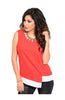 Sleeveless Color Blocked Wrap Blouse - BodiLove | 30% Off First Order  - 3
