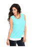 Sleeveless Color Blocked Wrap Blouse - BodiLove | 30% Off First Order  - 7