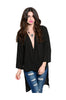 3/4 Sleeve Draped Surplice Hi Low Blouse - BodiLove | 30% Off First Order  - 1