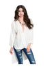3/4 Sleeve Draped Surplice Hi Low Blouse - BodiLove | 30% Off First Order  - 7