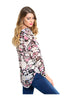 Draped Abstract Print Chiffon Surplice Blouse - BodiLove | 30% Off First Order  - 4