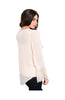 Sheer Chiffon Long Sleeve Blouse W/ Lace Trim - BodiLove | 30% Off First Order  - 4