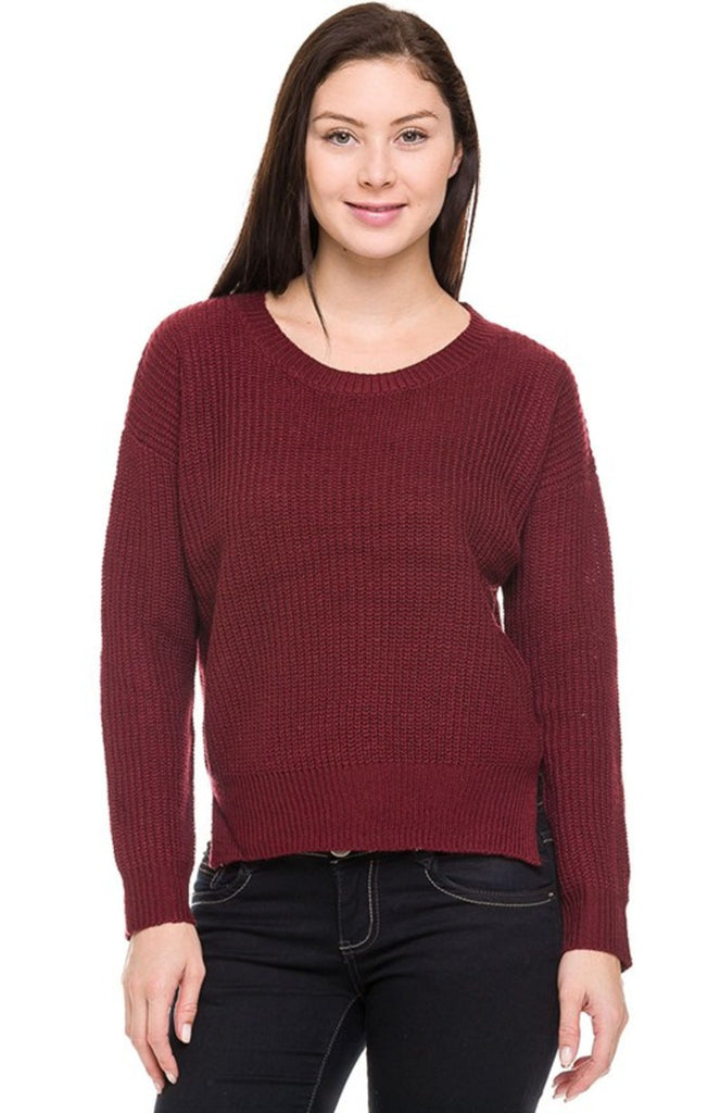 Long Sleeve Pull Over Cable Knit Sweater - BodiLove | 30% Off First Order  - 14