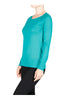 Long Raglan Sleeve Knit Sweater - BodiLove | 30% Off First Order - 20 | Green
