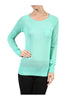 Long Raglan Sleeve Knit Sweater - BodiLove | 30% Off First Order - 18 | Mint