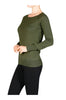 Long Raglan Sleeve Knit Sweater - BodiLove | 30% Off First Order - 14 | Olive1