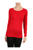 Long Raglan Sleeve Knit Sweater - BodiLove | 30% Off First Order - 16 | Red1