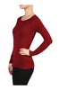 Long Raglan Sleeve Knit Sweater - BodiLove | 30% Off First Order - 12 | Wine