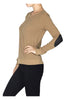 Textured Sweater W/ Faux Leather Elbow Pads - BodiLove | 30% Off First Order  - 8