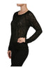 Long Sleeve Top W/ Crochet Lace Bodice - BodiLove | 30% Off First Order - 1