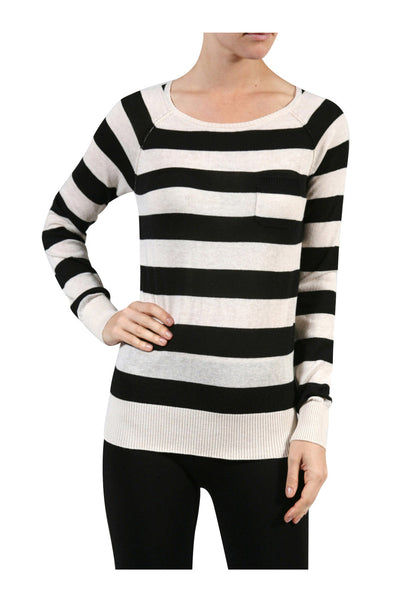 Long Raglan Sleeve Knit Sweater - BodiLove | 30% Off First Order - 1