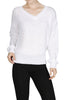 Long Sleeve V-Neck Cable Knit Sweater - BodiLove | 30% Off First Order  - 22