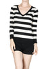 Striped Long Sleeve Knit Sweater - BodiLove | 30% Off First Order - 1