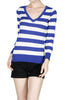 Striped Long Sleeve Knit Sweater - BodiLove | 30% Off First Order - 7